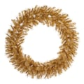 Vickerman 30in. Glitter Mixed Pine Wreath With 138 PE/PVC Tips, Gold