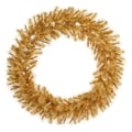 Vickerman 48in. Glitter Mixed Pine Wreath With 282 PE/PVC Tips & 200 Clear Mini Light, Gold