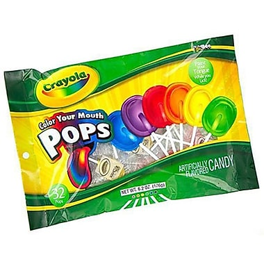 Crayola Flat Pops, 6.2 oz. Bag, 12 Bags