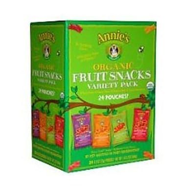 Annie's Organic Fruit Snacks Variety Pack, 0.8 oz. Pouches, 24 Pouches/Box