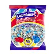 Jumbo Cherry and Blue Raspberry Balls, 120 pieces/Bag