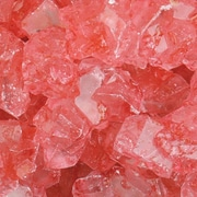 Dryden Palmer Strawberry Rock Candy on string, 5 lb. Bag.