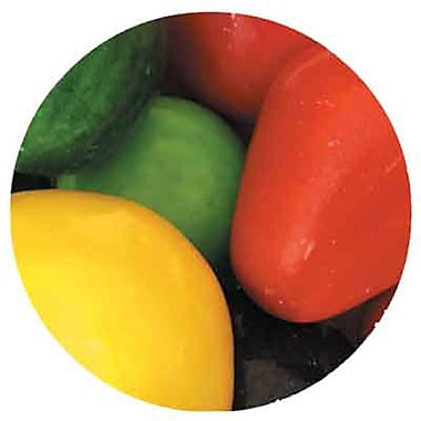 Dubble Bubble 2 inch Mega Fruit Shaped Gumballs unfilled, 16 lb. Bag