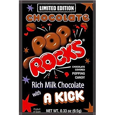 Chocolate Pop Rocks, 0.33 oz. Pouch, 24 Pouches/Box