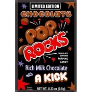 Chocolate Pop Rocks, 0.33 oz. Pouch, 24 Pouches/Box