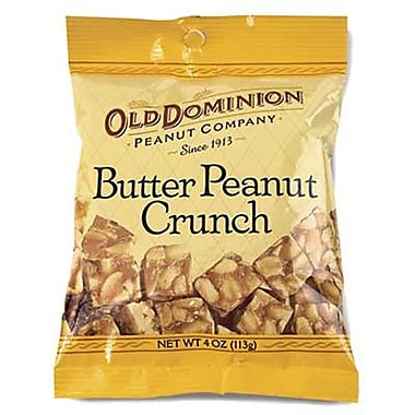Old Dominion Butter Peanut Crunch 4 oz. Peg Bag, 24 Bags/Box