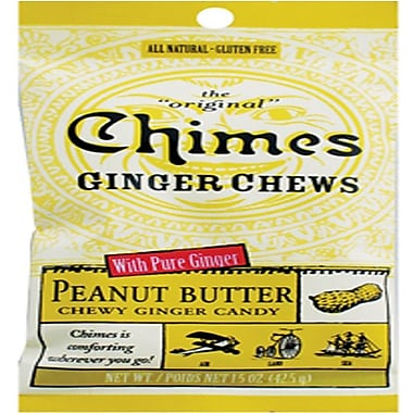 Ginger Chews, 1.5 oz. Bag, 12 Count