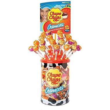 Cremosa Chupa Chups Pops .42 oz. Pops, 96 Pieces/Tube