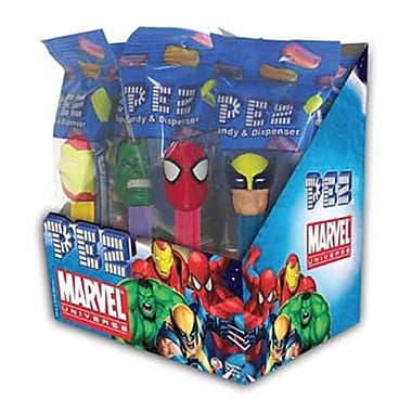Marvel Assortment .58 oz., 12 Pez/Display