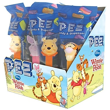 Winnie The Pooh Assortment .58 oz., 12 Pez/Display