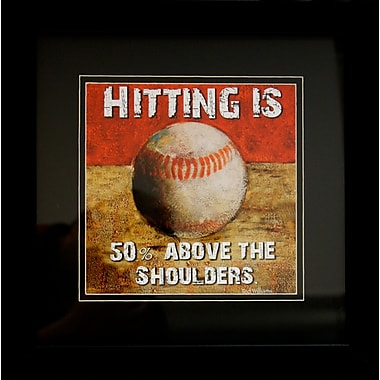 Diamond Decor in.Baseballin. Framed Sports Print Art, 14in. x 14in.