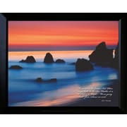 "Diamond Decor ""Smooth Water"" Framed Print Art, 15"" x 19"""