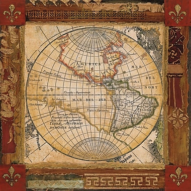 Diamond Decor in.Corners Of Earth #2in. Canvas Art, 20in. x 20in.
