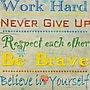 Diamond Decor Work Hard Typography Canvas Art, 15