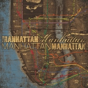 "Diamond Decor ""Manhattan Transit"" Canvas Art, 20"" x 20"""