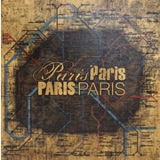"Diamond Decor ""Paris Metro"" Canvas Art, 20"" x 20"""