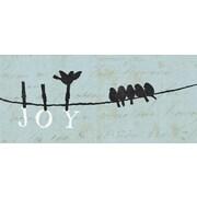 "Diamond Decor ""Bird On A Wire: Joy"" Canvas Art, 8"" x 20"""