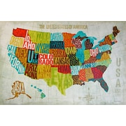 "Diamond Decor ""USA Modern"" Canvas Art, 24"" x 36"""