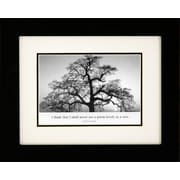 "Diamond Decor ""Oak Tree, Sunrise"" Framed Print Art, 10"" x 12"""