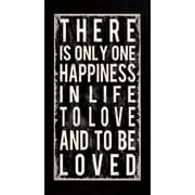 "Diamond Decor ""Happiness Quote"" Framed Print Art, 16"" x 34"""