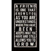 "Diamond Decor ""A Friend Quote"" Framed Print Art, 16"" x 34"""