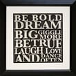 Diamond Decor in.Bold Inspiration #2in. Framed Print Art, 19in. x 19in.