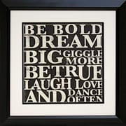 "Diamond Decor ""Bold Inspiration #2"" Framed Print Art, 19"" x 19"""