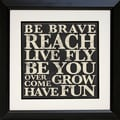 Diamond Decor in.Bold Inspiration #1in. Framed Print Art, 19in. x 19in.