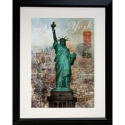 "Diamond Decor ""New York Landmark"" Framed Print Art, 22"" x 28"""