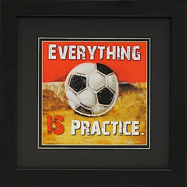 Diamond Decor in.Soccerin. Framed Sports Print Art, 14in. x 14in.