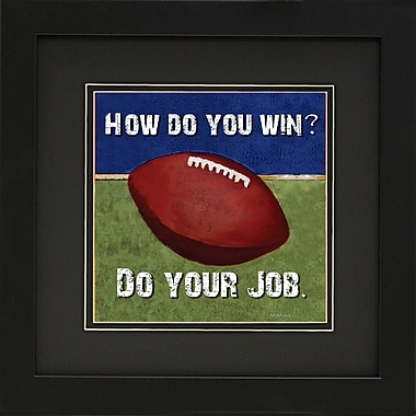Diamond Decor in.Footballin. Framed Sports Print Art, 14in. x 14in.