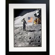 Diamond Decor Professionally American Moon Landing Photograph, 26 x 32