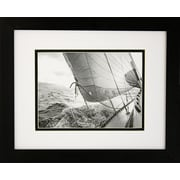 "Diamond Decor ""Heeling to Port"" Framed Print Art, 13"" x 16"""