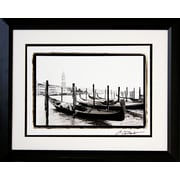 "Diamond Decor ""Waterways of Venice XV"" Professionally Framed Photograph, 19"" x 23"""