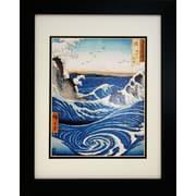"Diamond Decor Professionally ""Whirlpool At Awa"" Framed Poster Print Art, 13"" x 16"""