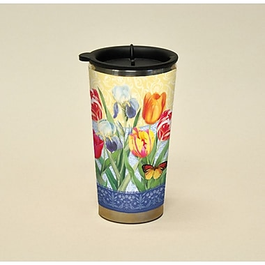 LANG® Botanical Gardnes Tulips & Irises 16 oz. Travel Mug