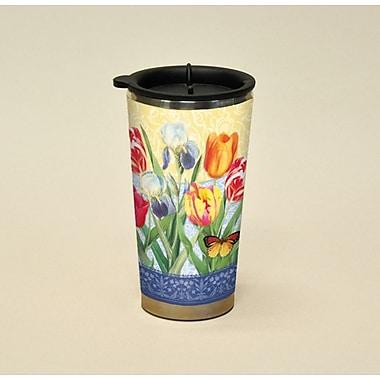 LANG® Botanical Gardnes Tulips & Irises 16 oz. Travel Mug