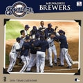 Turner Licensing® Milwaukee Brewers 2014 Team Wall Calendar, 12in. x 12in.
