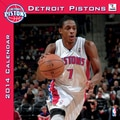 Turner Licensing® Detroit Pistons 2014 Team Wall Calendar, 12in. x 12in.