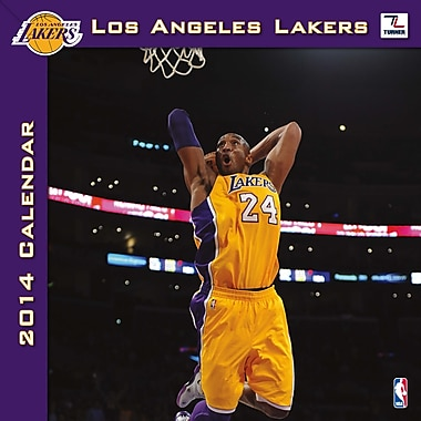 Turner Licensing® Los Angeles Lakers 2014 Team Wall Calendar, 12in. x 12in.