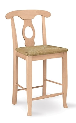 """""""""""International Concepts 24"""""""""""""""" Parawood Empire Stool, Unfinished"""""""""""" 229263"""
