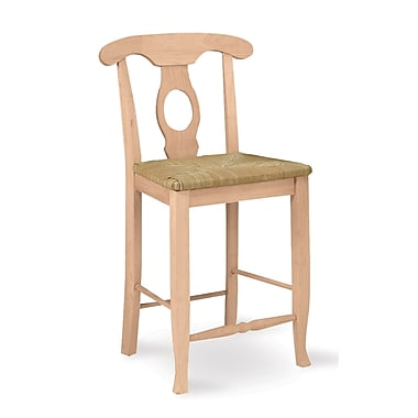 International Concepts 24in. Parawood Empire Stool, Unfinished