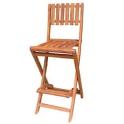 "International Concepts Acacia 29.2"" Wood Oiled Barheight Folding Stool"
