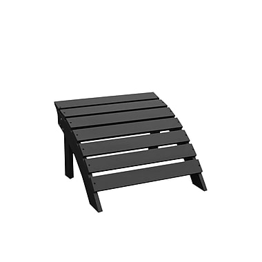 International Concepts Solid Wood Adirondack Footrest, Black