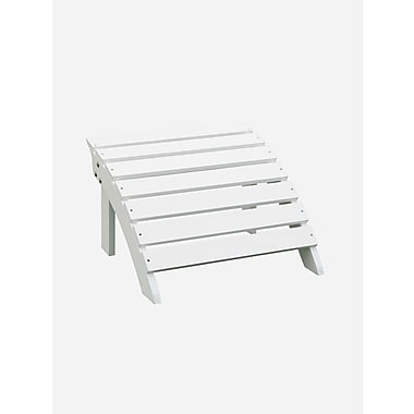 International Concepts Solid Wood Adirondack Footrest, White