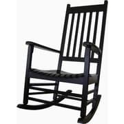 International Concepts Solid Poplar Wood Porch Rocker Chair, Antique Black