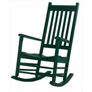 International Concepts Solid Poplar Wood Porch Rocker Chair, Hunter Green