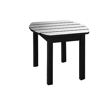 International Concepts Solid Wood Sidetable, Black