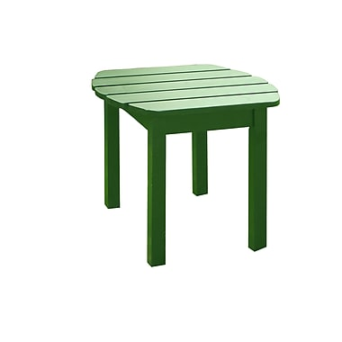 International Concepts Solid Wood Sidetable, Hunter Green