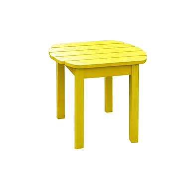 International Concepts Solid Wood Sidetable, Yellow